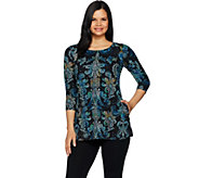 Attitudes by Renee Printed Tunic with Pockets - A294063