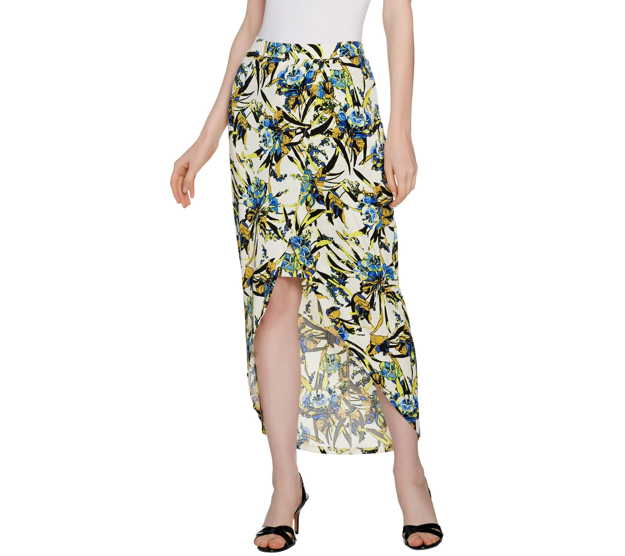 quot as is quot g i l i wrap front maxi skirt qvc