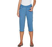 Denim & Co. Petite Perfect Denim Smooth Waist Pedal Pusher Jeans - A301763