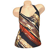 Carol Wior Desert Winds Tankini Top with Underwire - A339363