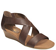A2 by Aerosoles Heel Rest Wedge Sandals - Yet Back - A339563