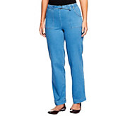 Denim & Co. How Timeless Tall Stretch Denim Pull-On Pants - A69563