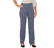 Susan Graver Double Knit Herringbone Hollywood Waist Pants - A91763