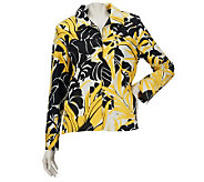 Susan Graver Weekend Printed Cotton Zip Front Jacket - A213364