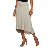 M by Marc Bouwer Elastic Waist Hi-Low Hem Knit Skirt - A233564