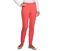 Isaac Mizrahi Live Regular Knit Denim Ankle Pants - A240964
