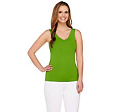 Susan Graver Essentials V-Neck Smoothing Tank - A254364