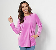 Denim & Co. Active Regular Velour Tunic - A260064
