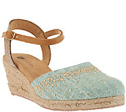 White Mountain Closed-toe Espadrille Wedges Sail Boat - A262764