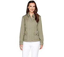 Liz Claiborne New York Zip Front Safari Jacket - A263464