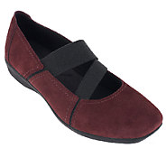 As Is Clarks Suede Gored Mary Janes - Haydn Juniper - A265764