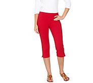 Susan Graver Weekend Cotton Spandex Pedal Pusher Leggings - A265864