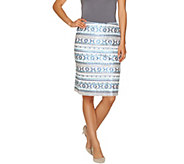 Mark of Style by Mark Zunino Pencil Skirt with Sequin Detail - A265964