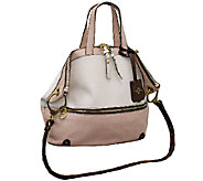 As Is orYANY Nikki Italian Leather Satchel - A268864