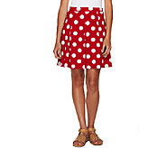 As Is Susan Graver Printed Liquid Knit Pull On Skort - A272264