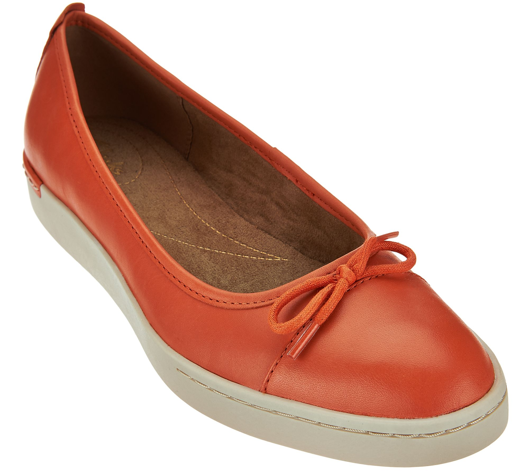 Clarks Artisan Leather Slip-ons with Bow Accent - Cordella Alto - Page 1 —  QVC.com