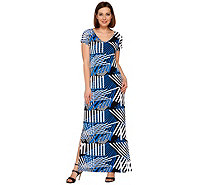 Attitudes by Renee Regular Printed Knit Maxi Dress - A275064