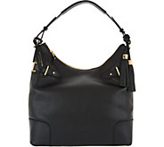 Isaac Mizrahi Live! Bridgehampton Pebble Leather Hobo Handbag - A280964