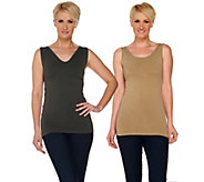skinnytees Seamless Reversible Layering Tank Top Set - A281864
