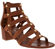 As Is Marc Fisher Gladiator Block Heel Sandals - Julee - A284464