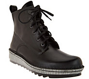 Naot Leather Lace-up Boots - Gazania - A285464