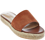 As Is H by Halston Suede Flat Espadrille Slide - Norma - A287564