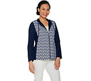 Susan Graver Weekend Printed French Terry Zip Front Jacket - A287664