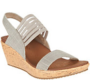 Skechers Sling Back Stretch Wedge Sandals - Smitten Kitten - A287764