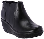 As Is Clarks Artisan Leather Wedge Ankle Boots - Clarene Sun - A289864