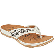 Earth Leather Perforated Thong Sandals - Maya - A290164