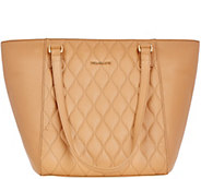 As Is Vera Bradley Quilted Leather Tote - Small Ella - A290664