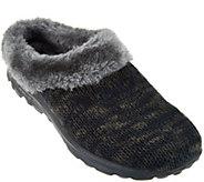 As Is Skechers GOWalk Sweater Knit Faux Fur Clogs-Revamped - A293064