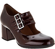 Earthies Patent Leather Triple Strap Mary Janes - Fortuna - A298264
