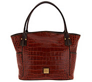Dooney & Bourke Croco Embossed Kristen Tote Handbag - A300764