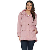 Joan Rivers Water Resistant Anorak with Hood - A302564