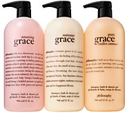 philosophy super-size summer of grace shower gel trio - A310664