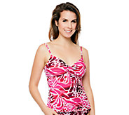 Simply Sole Skin Deep Underwire Tie-Front Tankini Top - A332464