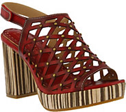LArtiste by Spring Step Leather Laser-cut Sandals - Lipika - A357164