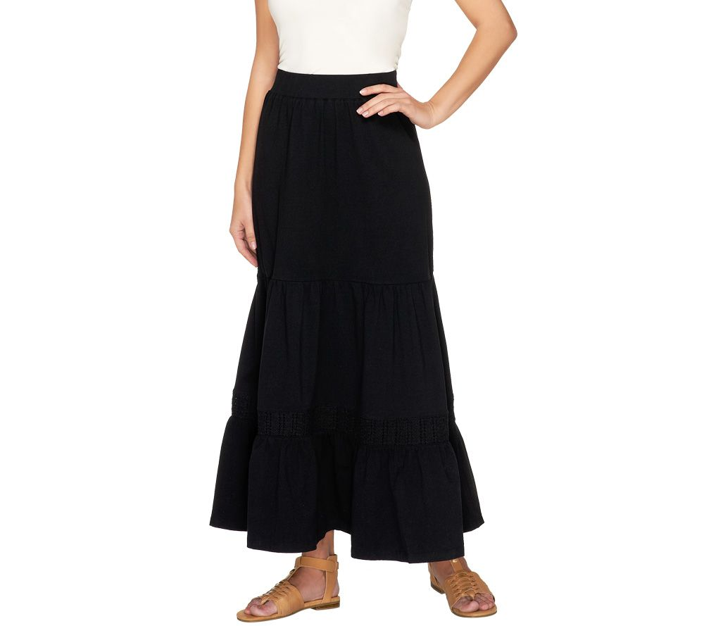 liz claiborne new york regular knit maxi skirt with