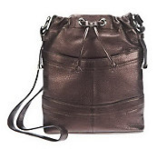 As Is B. Makowsky Pebble Embossed Leather Crossbody Bag - A236165