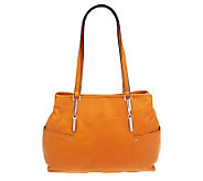 As Is B. Makowsky Glove Leather Triple Compart ment Shopper - A237365