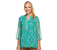 Liz Claiborne New York Paisley Print Lined Tunic - A240865