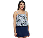 Fit 4 U Tummy Love Fest Blouson Top with Skirtini - A252565