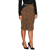 Edge by Jen Rade Knit Houndstooth Pencil Skirt - A258265