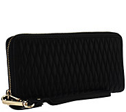 Isaac Mizrahi Live! Bridgehampton Quilted Lamb Leather Wallet - A258765