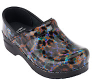 As Is Dansko Professional Leather Clogs in Fashion Colors - A265765