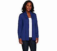 Denim & Co. Heavenly Jersey Long Sleeve Open Front Cardigan - A267965