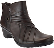 Earth Origins Leather Ankle Boots with Pleating - Ruth - A270065