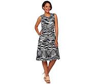 H by Halston Mixed Stitch Space Dye Sweater Dress - A274565