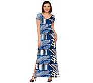Attitudes by Renee Petite Printed Knit Maxi Dress - A275065